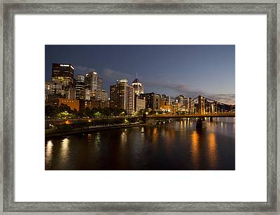 Pittsburgh From The 9th Street Bridge Framed Print