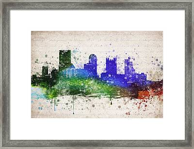 Pittsburgh In Color Framed Print