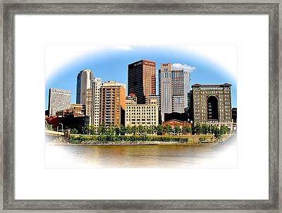 Pittsburgh In The Spotlight Framed Print by Frozen in Time Fine Art Photography