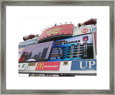 Framed Print featuring the photograph Pittsburgh Ketchup  by Michael Krek