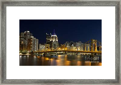 Pittsburgh Lights Framed Print by Mike Vosburg