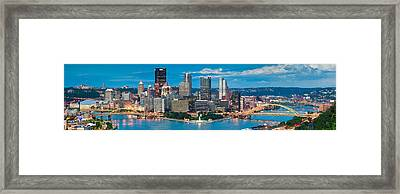 Pittsburgh New Fountain Framed Print by Emmanuel Panagiotakis