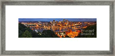 Pittsburgh Overlook Panorama Framed Print by Adam Jewell