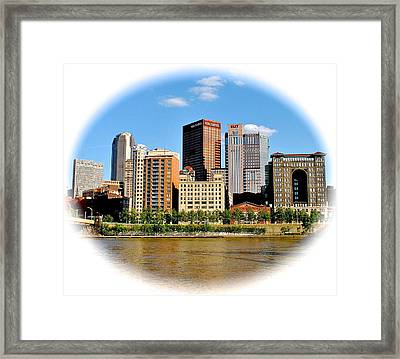 Pittsburgh Pa In The Spotlight Framed Print by Frozen in Time Fine Art Photography