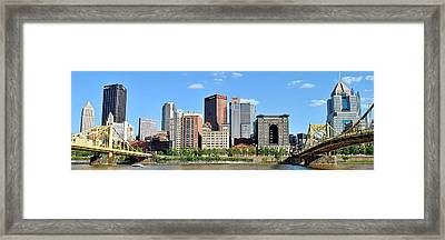 Pittsburgh Panoramic Framed Print by Frozen in Time Fine Art Photography