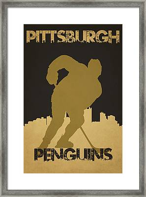 Pittsburgh Penguin Framed Print by Joe Hamilton