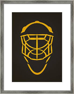 Pittsburgh Penguins Goalie Mask Framed Print by Joe Hamilton