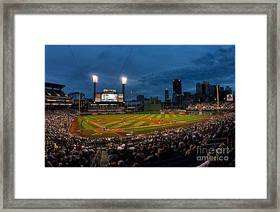 Pittsburgh Pirates Playing At Pnc Framed Print by Bill Bachmann