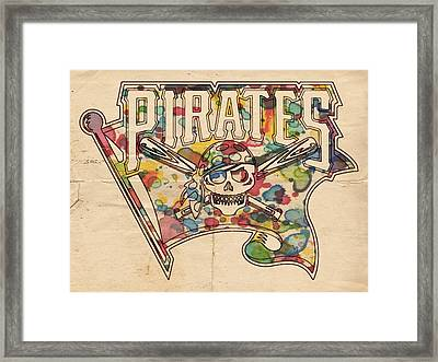 Pittsburgh Pirates Poster Art Framed Print by Florian Rodarte