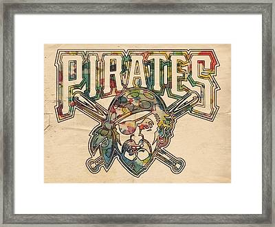 Pittsburgh Pirates Poster Vintage Framed Print by Florian Rodarte