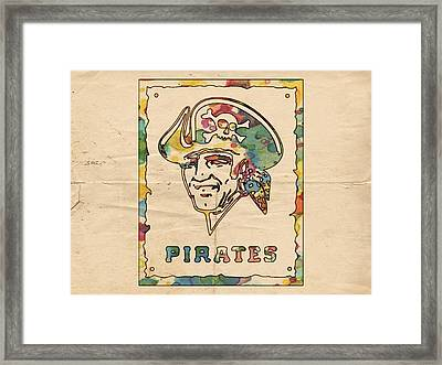 Pittsburgh Pirates Vintage Art Framed Print by Florian Rodarte