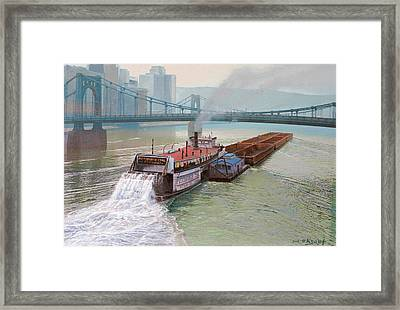 Pittsburgh River Boat-1948 Framed Print