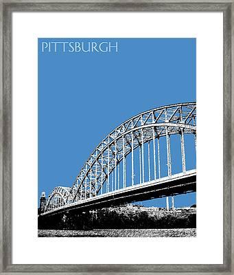 Pittsburgh Skyline 16th St. Bridge - Slate Framed Print
