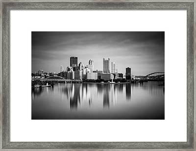 pittsburgh Skyline 56 Framed Print by Emmanuel Panagiotakis
