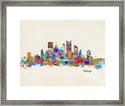 Pittsburgh Skyline Pennsylvania Framed Print