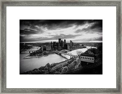 Pittsburgh Skyline1 Framed Print by Emmanuel Panagiotakis