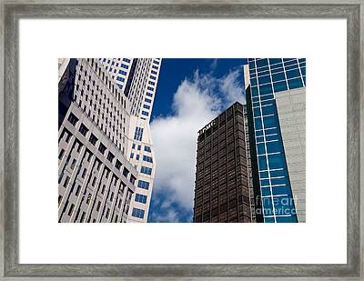Pittsburgh Skyscrapers Framed Print by Amy Cicconi