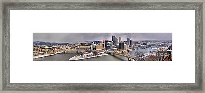 Pittsburgh Snowy Panorama Framed Print