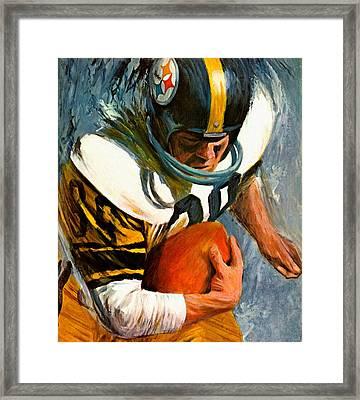 Pittsburgh Steelers 1966 Vintage Print Framed Print by Big 88 Artworks