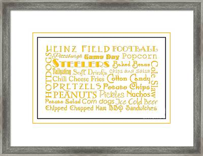 Pittsburgh Steelers Game Day Food 3 Framed Print