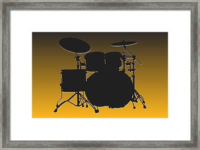 Pittsburgh Steelers Drum Set Framed Print by Joe Hamilton