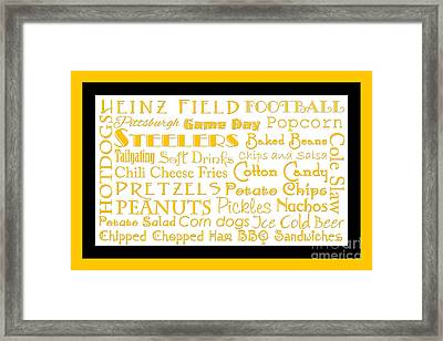 Pittsburgh Steelers Game Day Food 2 Framed Print