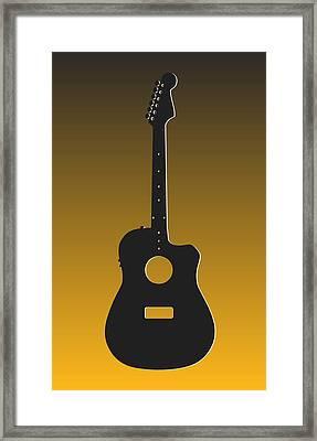 Pittsburgh Steelers Guitar Framed Print by Joe Hamilton