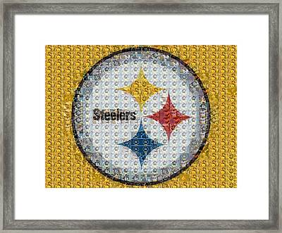 Pittsburgh Steelers Mosaic Logo Framed Print