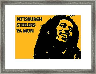 Pittsburgh Steelers Ya Mon Framed Print by Joe Hamilton