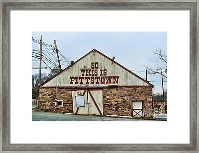 Pittstown - R U Lost Framed Print by Paul Ward