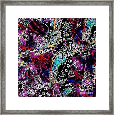 Pixel Paisley  Framed Print