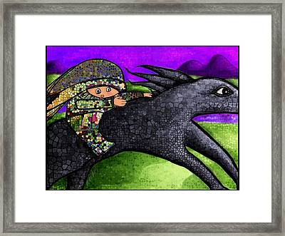 Pixel's Wild Ride Framed Print