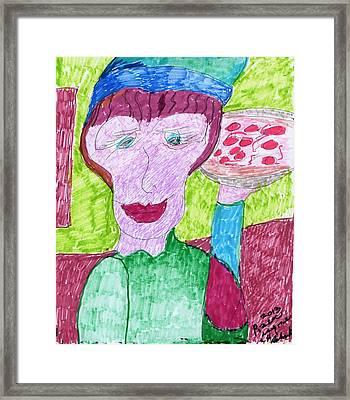 Pizza Anyone Framed Print