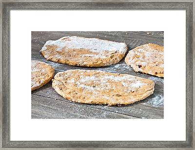 Pizza Bases Framed Print