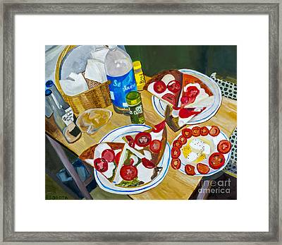 Pizza By Rachel Sobota Framed Print