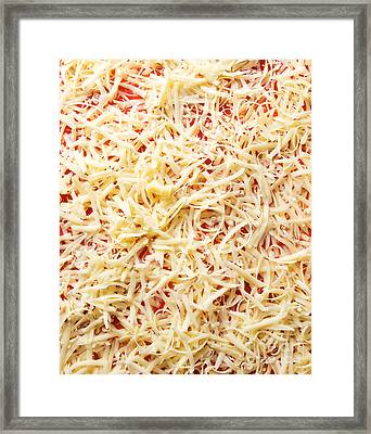 Pizza Cheese Framed Print by Sinisa Botas