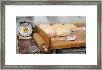 Pizza Dough Ready To Go Framed Print
