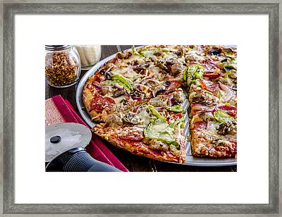 Pizza For Dinner Framed Print