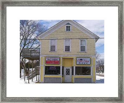 Oven King Pizza House Framed Print