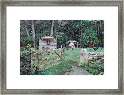 Pizza Hut, Beeley, Derbyshire, 2004 Oil On Canvas Framed Print