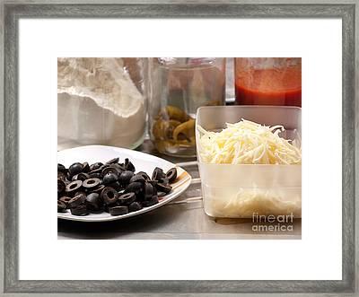 Pizza Ingredients Framed Print by Sinisa Botas