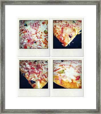 Pizza Framed Print by Les Cunliffe