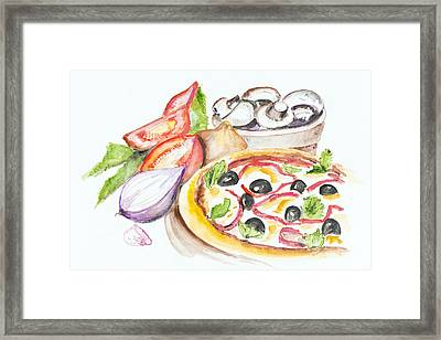 Pizza Margarita Framed Print by Irina Gromovaja