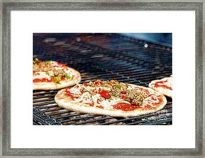 Pizza On The Grill Framed Print