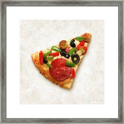Pizza Slice Framed Print by Danny Smythe