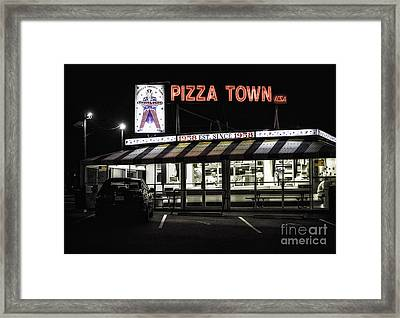 Pizza Town Framed Print