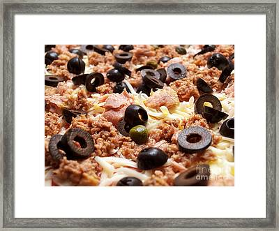 Pizza With Tuna Framed Print by Sinisa Botas