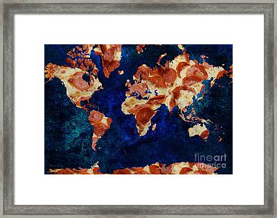 Pizza World 2 Framed Print by Andee Design