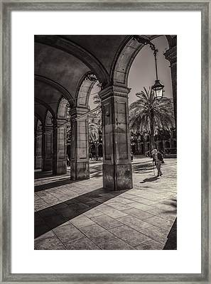 Placa Reial Shadows Framed Print