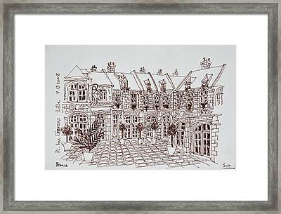 Place Aux Oignons, Old Town, Lille Framed Print